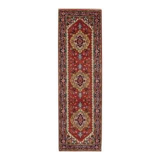 Indo Persian Heriz Serapi Design Runner For Sale