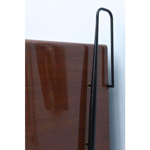 Italian Modern Mahogany and Brass Bar Cabinet or Bookcase, Silvio Cavatorta For Sale - Image 9 of 10