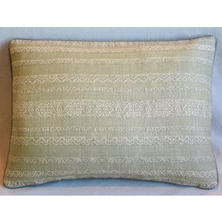 "Green & Cream Designer Kerry Joyce Striped Pillow 22"" X 16"" Preview"