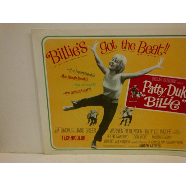 "Mid-Century Modern Vintage Movie Poster ""Billies Got the Beat"" Starring Patty Duke For Sale - Image 3 of 5"