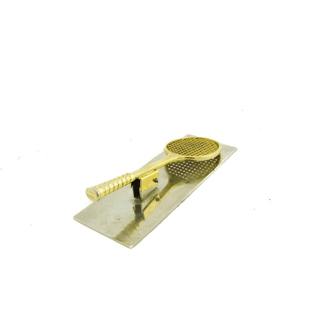Brass and Chrome Tennis Desk Clip - Image 5 of 5