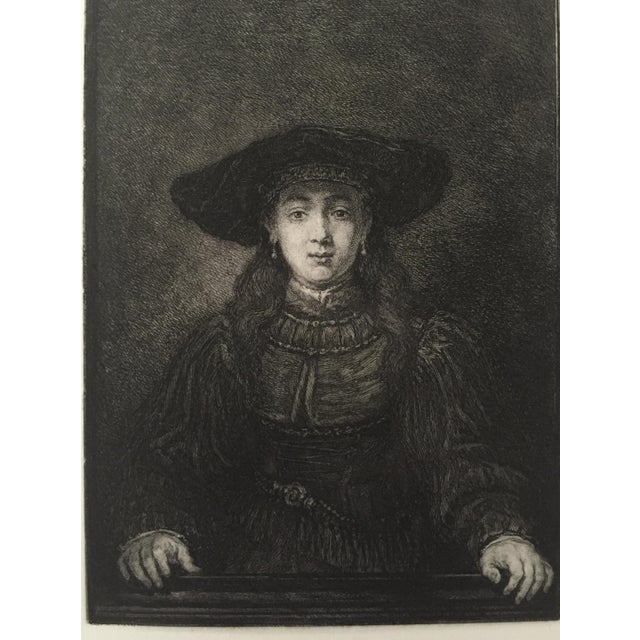Portrait of a Woman Master Etching 19th Century - Image 4 of 4