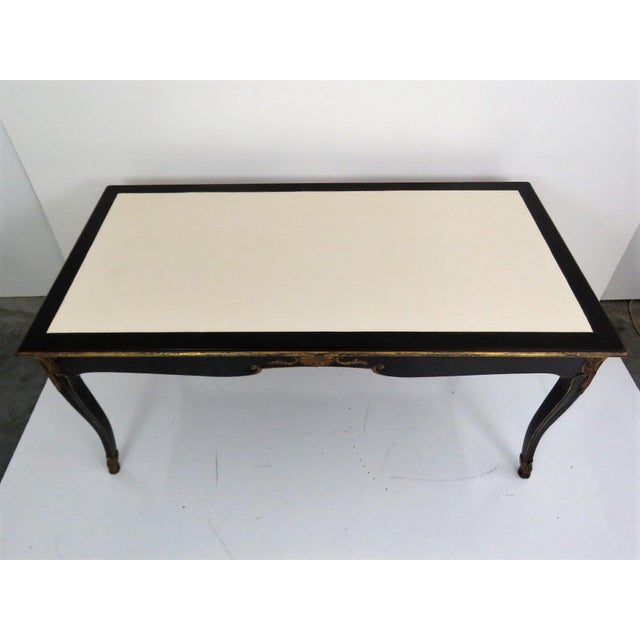 Maison Jansen Regency Style Ebonized & Gilt Leathertop Desk - Image 3 of 6