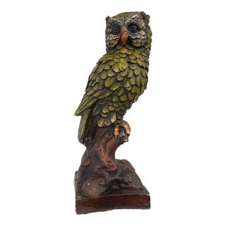 Mid 20th Century Large Owl Statue For Sale