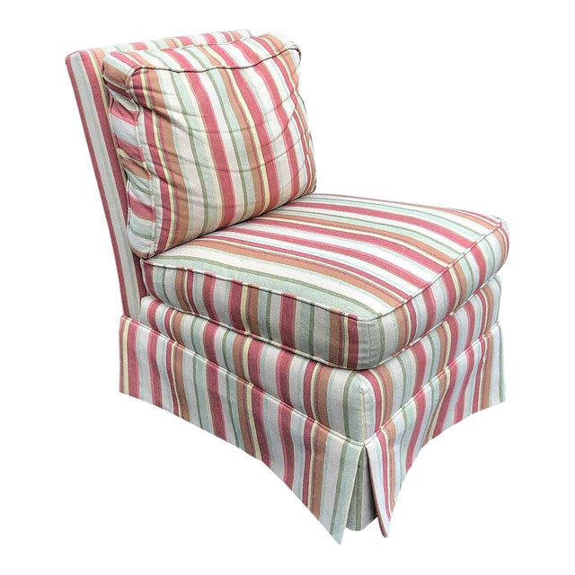 Modern Vanguard Furniture Down Filled Slipper Chair For Sale