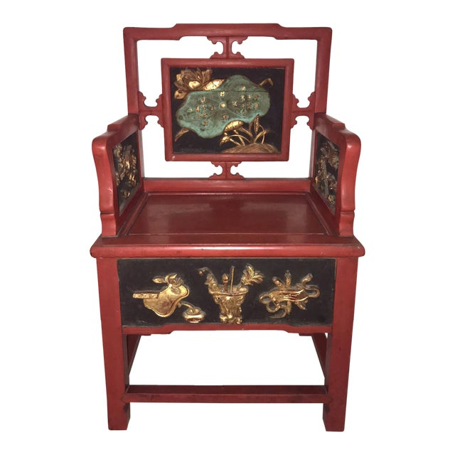 Antique decorative chinese arm chair chairish