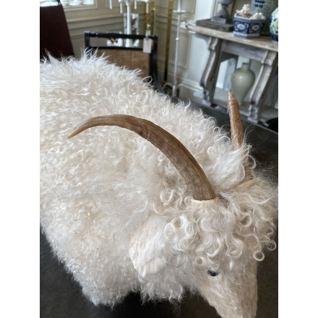 1960s Genuine Sheepskin Ottoman in the Manner of Claude Lalanne For Sale - Image 5 of 10