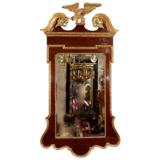 George II Scroll Top Mirror For Sale