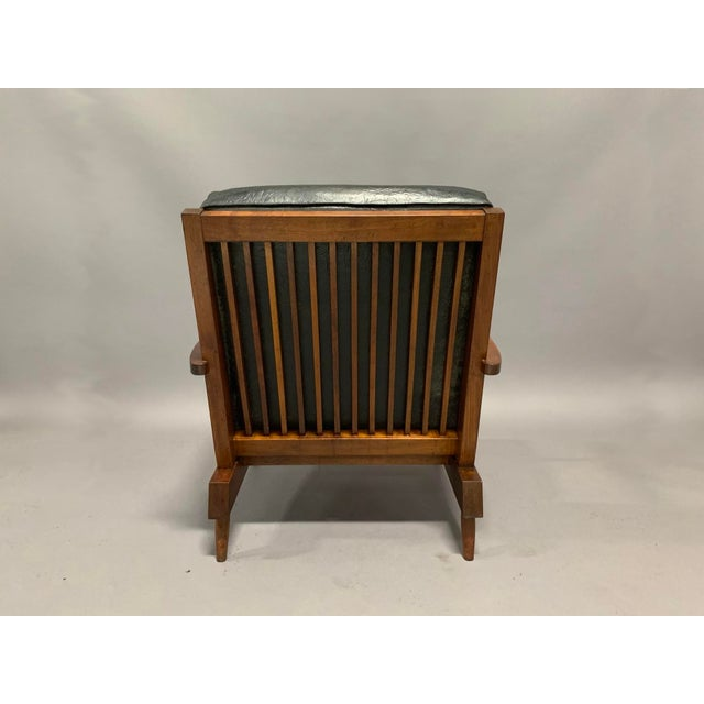 Wood George Nakashima Pair of Spindle Back Lounge Chairs For Sale - Image 7 of 13