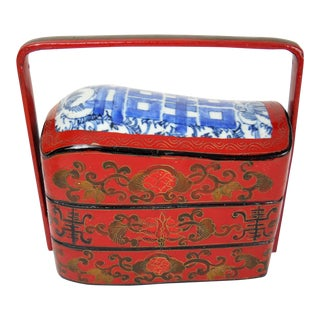 Asian Porcelain and Enamel Stacked Box