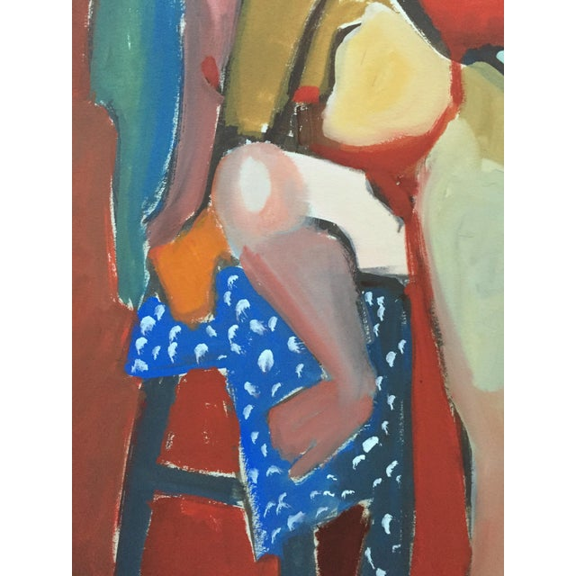 1940-50s Vintage Bay Area Figurative Female Nude Painting by Jerry Opper - Image 4 of 7