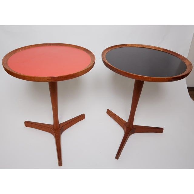 1960s Danish Modern Hans C. Anderson Teak Side Tables - a Pair For Sale In Los Angeles - Image 6 of 7
