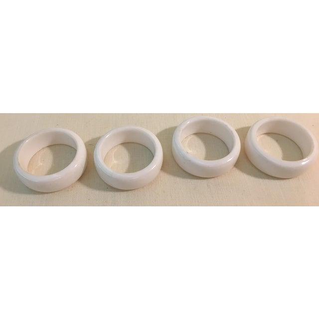 Mid-Century Modern Acrylic Napkin Rings - Set of 4 - Image 4 of 7