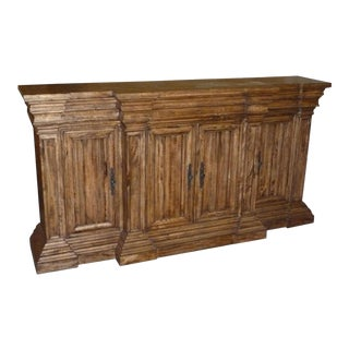 Sideboard Cathedral Reclaimed Wood Linen Fold 4 For Sale