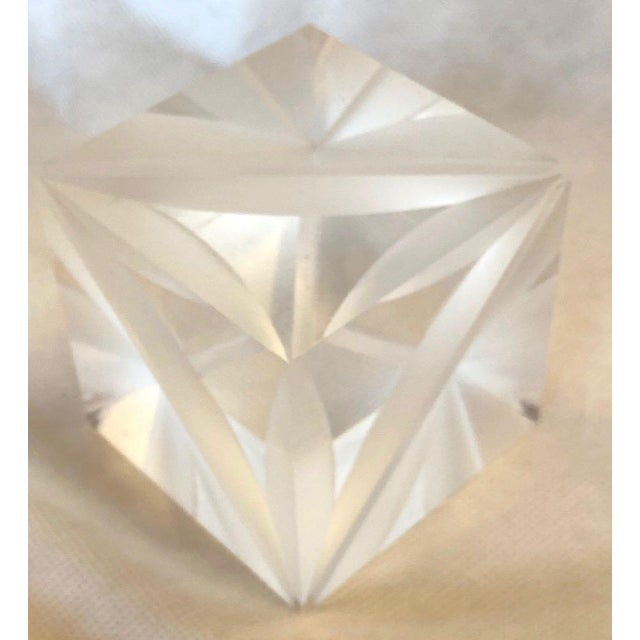1970s Italian Alessio Tasca Lucite Cube For Sale - Image 13 of 13