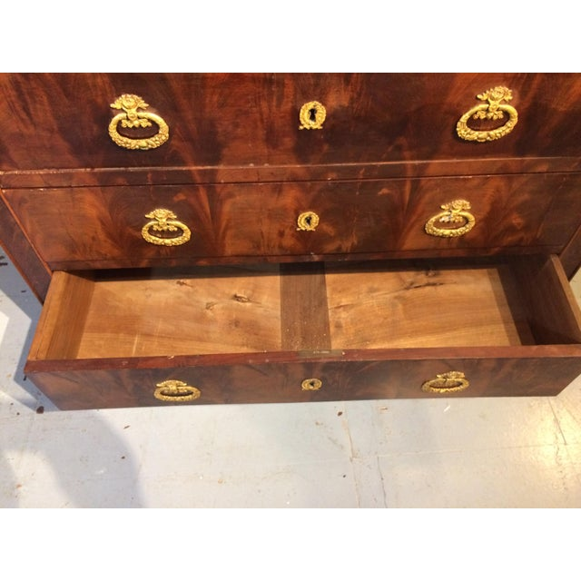 Louis Philippe Four Drawer Chest with Flame Mahogany For Sale - Image 9 of 13