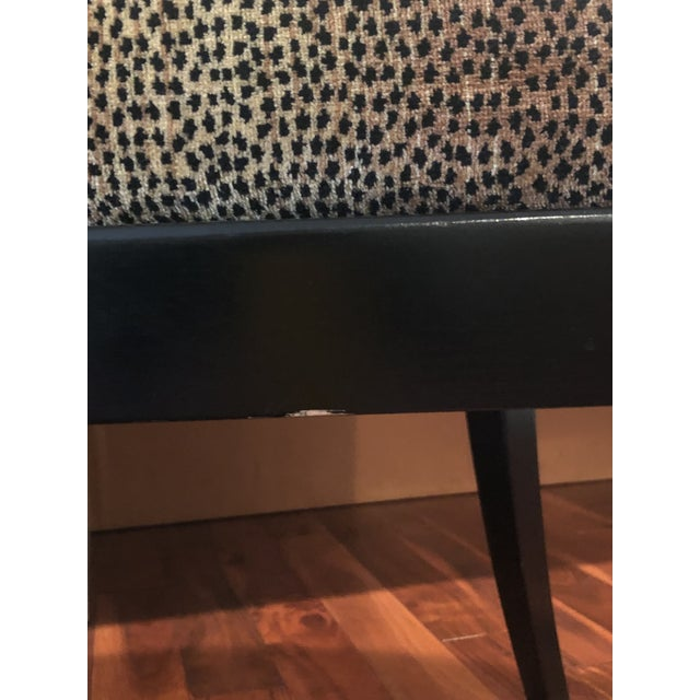 Fabric 20th Century Traditional Ethan Allen Accent Chair - Animal Print - a Pair For Sale - Image 7 of 12