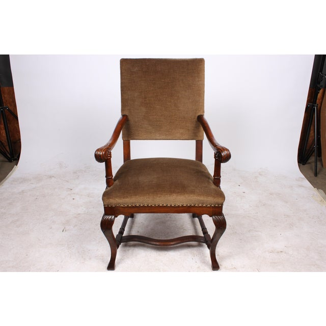 1920s French Queen Anne Style Arm Chair - Image 2 of 5