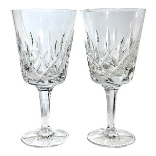 Gorham King Edward Hand Blown Water Goblets, Germany - Set of 2 For Sale