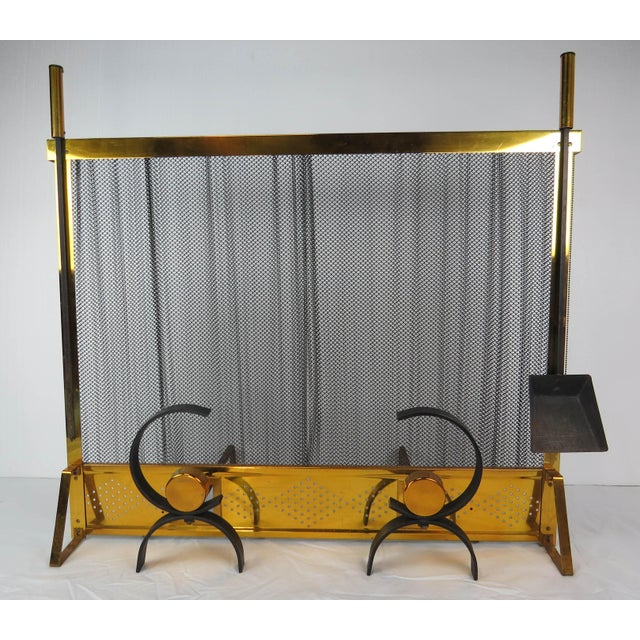 1950s Vintage Donald Deskey Mid-Century Modern Fireplace Set - 5 Pieces For Sale - Image 13 of 13