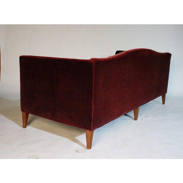 Baker Archetype Model #2386-80 Red Merlot Mohair Sofa For Sale - Image 10 of 11