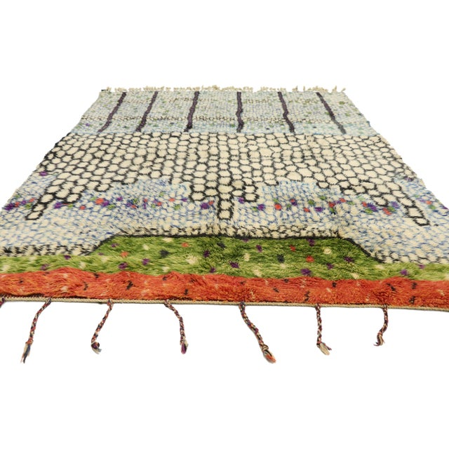 Abstract Expressionism Moroccan Contemporary Berber Rug - 05'08 X 07'05 For Sale - Image 3 of 10