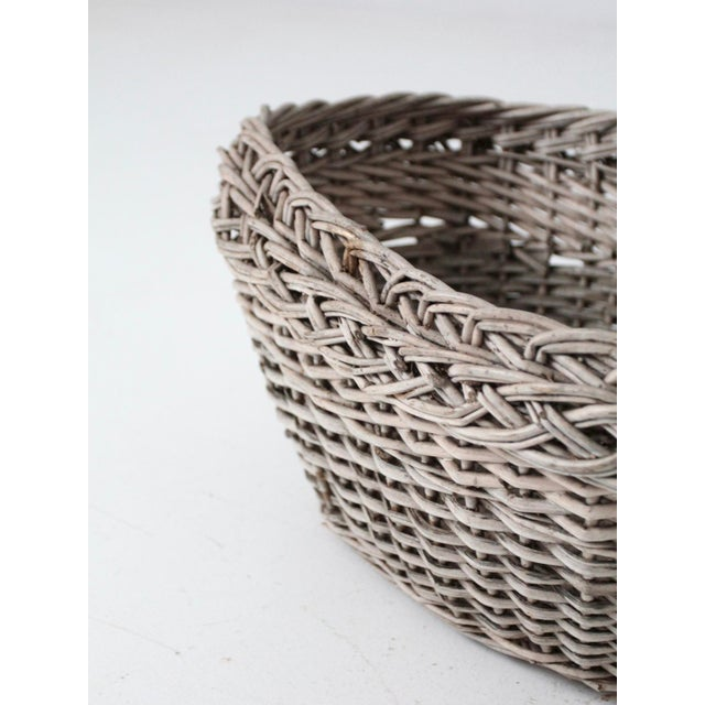 Antique Wicker Basket For Sale - Image 9 of 12
