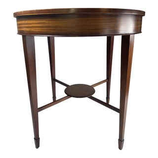 Late 20th Century Baker Furniture Historic Charleston Reproduction Mahogany Rounded Accent Table For Sale