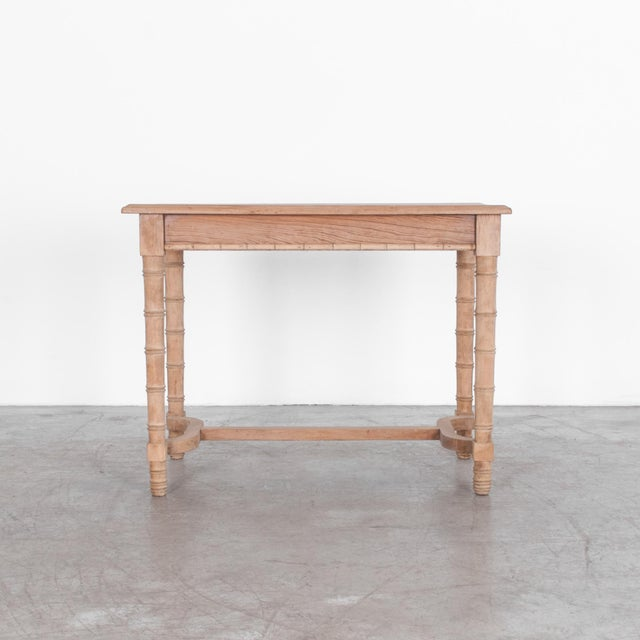 From France c. 1900. This characteristic faux bamboo dining table in modest scale, is a versatile shape, also useful as a...