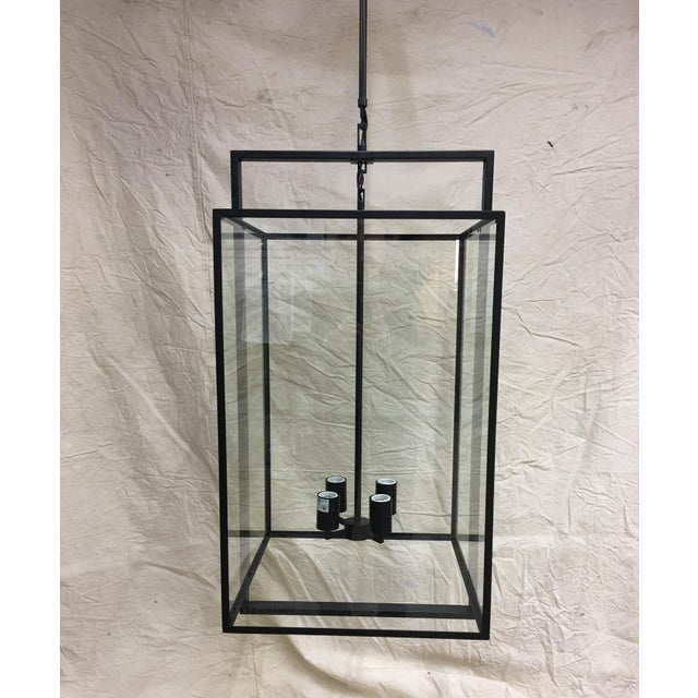 Halle Medium Lantern by Ian K. Fowler for Visual Comfort S 5193AI-CG in Aged Iron finish. This light has an overall height...