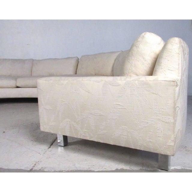 Milo Baughman Milo Baughman Mid-Century Circular Sofa For Sale - Image 4 of 10