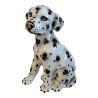 Vintage Italian Dalmatian Dog Statute For Sale