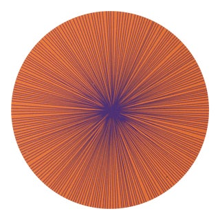 Shadow Lines Placemat in Persimmon + Purple For Sale