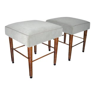 Chic Pair of Stools With Exquisite Legs by Maison Jansen For Sale