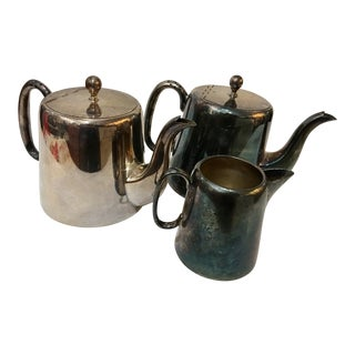 Sheffield English Silverplate Coffee & Teapots - Set of 3 For Sale