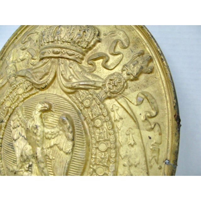 Antique 1st Empire ( 1804-1815) French Brass Oval Notary Plaque Very good Empire Notary Brass Stamped/ embossed with the...