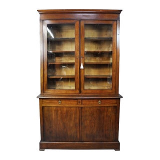 1900's French Antique China / Library Cabinet For Sale