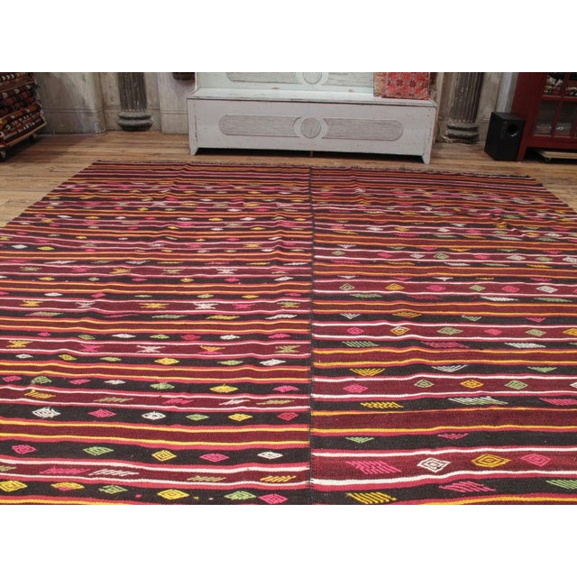 Islamic Pair of Banded Kilims For Sale - Image 3 of 6