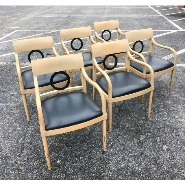 Vintage Custom Hand Made Neoclassical Dining Chairs- Set of 6 For Sale - Image 9 of 9