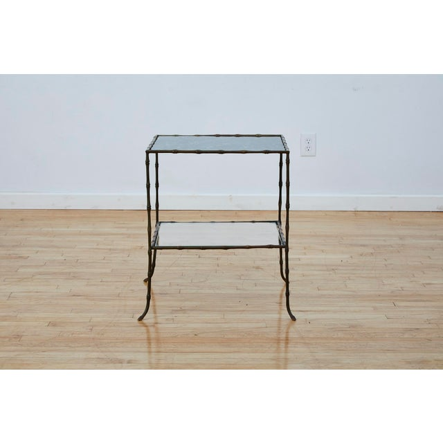 Vintage Maison Bauges Style Two-Tier Faux Bamboo Side Table For Sale - Image 13 of 13