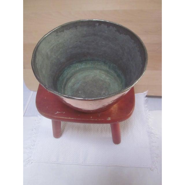 Copper Pot Set Hammered Copper & Brass Pots & Pans - Set of 4 - Image 4 of 10