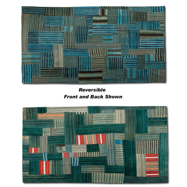 Sarreid LTD Patchwork Double Sided Rug - 8' x 12' - Image 3 of 3