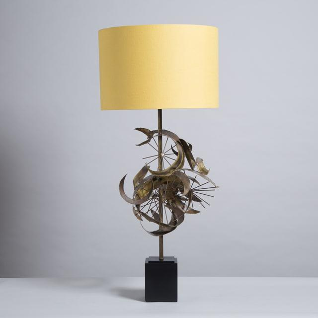1970s Brass Brutalist Sculptural Table Lamp Attributed to Curtis Jere, 1970s For Sale - Image 5 of 5