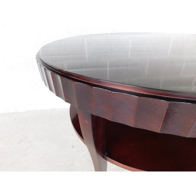 "Early 21st Century Baker Barbara Barry Collection Mahogany Center Table 37""w For Sale - Image 5 of 9"
