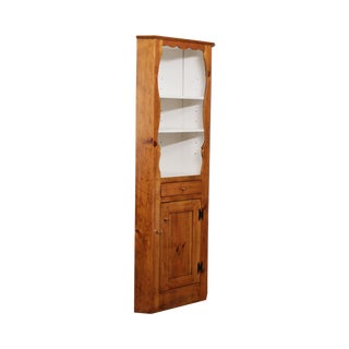 """Stephen Von Hohen """"The Bucks County Collection Country"""" Pine Corner Cabinet For Sale"""