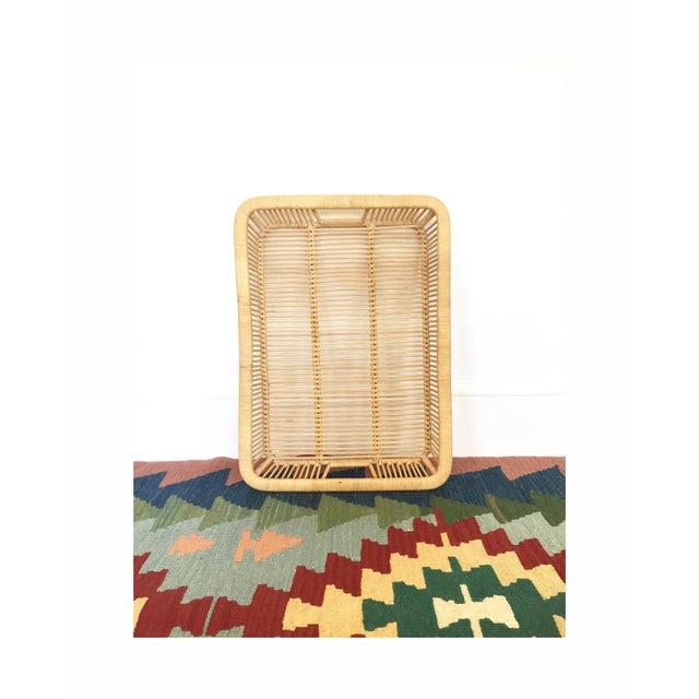 Boho Chic Vintage Rattan Tray - Image 4 of 6