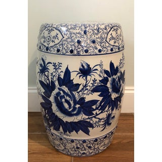 1940's Chinoiserie Floral Garden Stool Preview