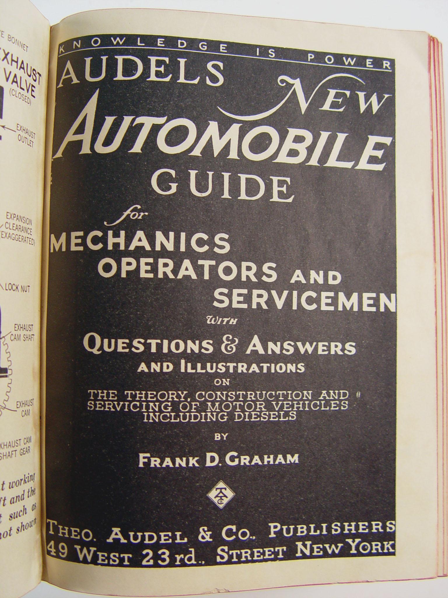 vintage 1940 audel s new automobile guide book chairish rh chairish com Audel Digital Watch Audel Digital Watch