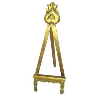 Florentine Gold Wooden Easel