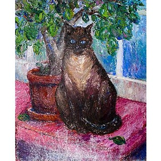 "Oil Painting ""A Cat Named Monster"" For Sale"